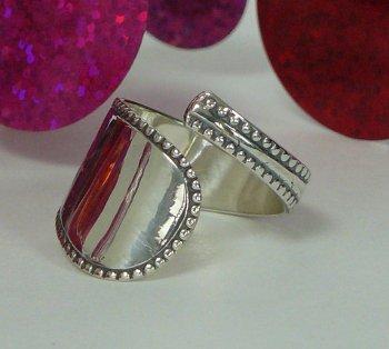 Zilveren ring van theelepel